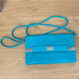 Ever New Melbourne Turquoise Purse. Faux Leather